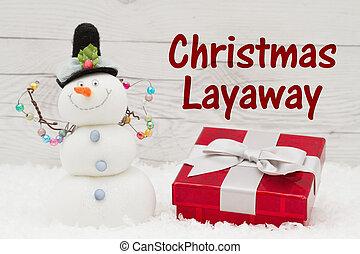 消息, 假期, layaway