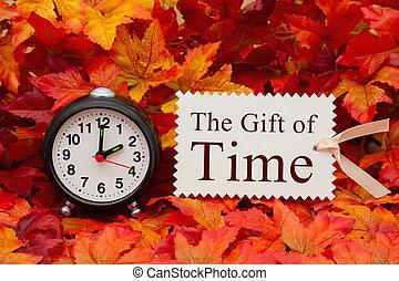 消息, 禮物, 時間