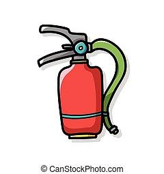 消火器の色, いたずら書き