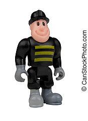 消防士, おもちゃ, 人形