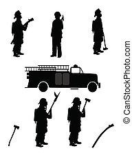 消防士, シルエット