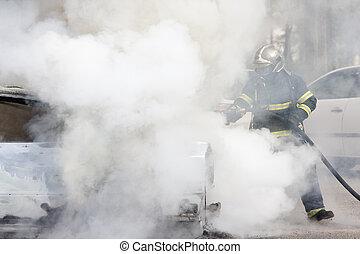 消防士, 煙, ∥間に∥