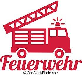 消防車, 部門, ドイツ語