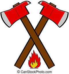 消防隊員, 斧子
