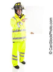 消防隊員, 由于, 空白徵候, -, 充分的身体