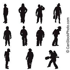 消防隊員, 黑色半面畫像