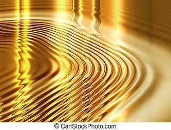 液体, 抽象的, 金, 背景
