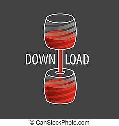 液体, 1(人・つ), ベクトル, もう1(つ・人), ポンプでくまれる, 容器, ロゴ