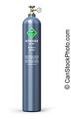 液化された, シリンダー, 産業, ガス, 窒素
