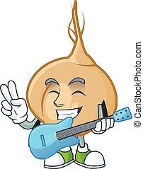 涼しい, 極度, 漫画, ギター, パフォーマンス, 特徴, jicama