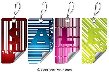 涼しい, barcode, ラベル, デザインを設定しなさい