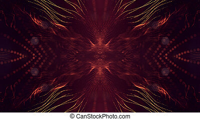 深さ, 星, 形態, 金, フィールド, v67, 科学, 抽象的, bokeh., 表面, フィクション, 微片, レンダリング, 白熱, 背景, 線, grid., 赤, 3d