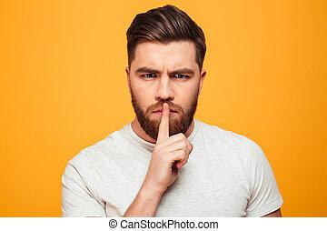 深刻, あごひげを生やした男, 肖像画
