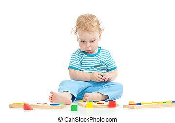 深刻, 哀愁を秘めた, 子が遊ぶ, 論理名, 教育, おもちゃ, 隔離された, 白