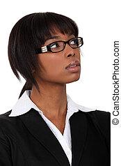 深刻, 女性実業家, ガラス
