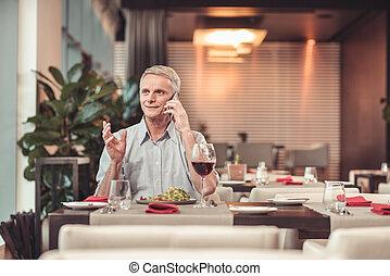 深刻, 飲むこと, 人, ワイン, レストラン
