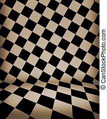 深棕色, 國際象棋, 房間, 階段
