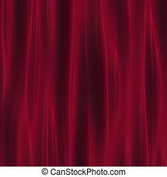 深紅色, カーテン, ひだのある布, 劇場