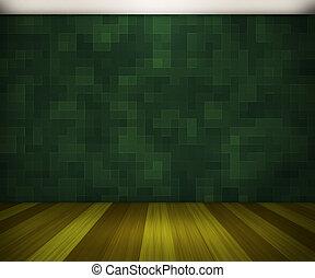 深綠, 房間