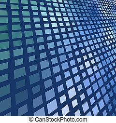 深藍, 摘要, 馬賽克, 背景。