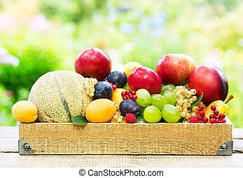 混ぜられた, 新鮮な果物