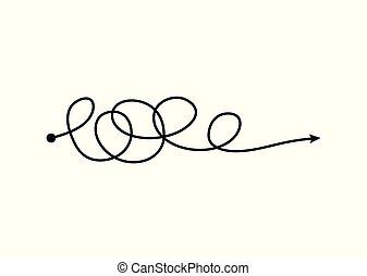 混亂, 心不在焉地亂寫亂畫, 認為過程, 箭, 雜亂, freehand, 線, 混亂狀態, 雜文, 風格