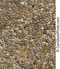 混凝土, 由于, 灰色, 白色, 橙, 布朗, 石頭, 卵石, 牆
