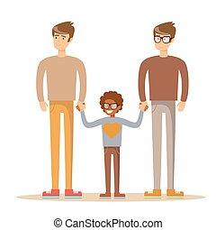 混合され競争, ゲイである, 家族, 幸せ