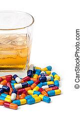 混合は薬剤を入れる, アルコール