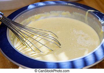 混合, バター, そして, 砂糖, 中に, ボール, ∥で∥, 混合, 機械, 作成, パン屋