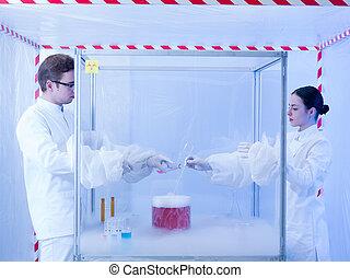 混合, 有色人種, 物質, 中に, ∥, 殺菌している, 部屋