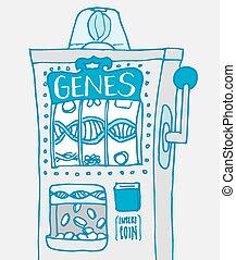 混合, 遺伝子, 機械, スロット, 面白い