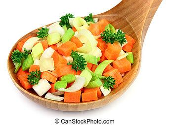 混合, 野菜