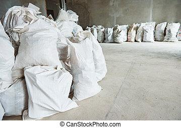 清掃, debris., 積み重ね, の, 建設, 無駄, 中に, 虫, 中に, アパート