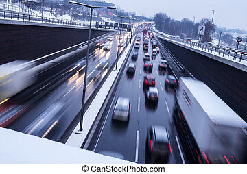 清楚, 冰, 上, 高速公路