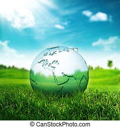 清楚, 地球, concept., 摘要, 环境, 背景, 为, 你
