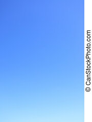 清楚, 無云, 藍色的天空