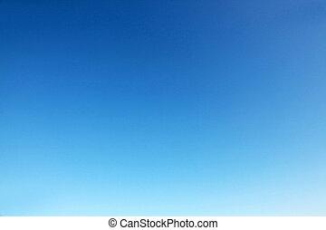 清楚, 藍色的天空