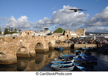 渔船, 在中, essaouria, 摩洛哥, 非洲