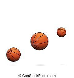 渦巻, バスケットボール, セット, グランジ, ボール