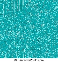 渦巻, パターン, 抽象的, seamless, 手, バックグラウンド。, ベクトル, 引かれる, メンフィス, style.