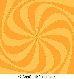 渦巻, 抽象的, 光線, 背景, spinned