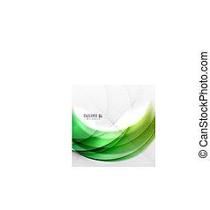 渦巻, 抽象的, 緑の背景, 波