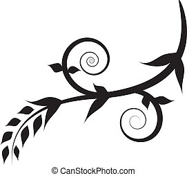 渦巻, 花, 植物, 黒