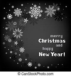 渦巻, 黒, クリスマス, 背景
