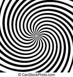 渦, vector., ∥あるいは∥, モノクローム, らせん状に動きなさい, 渦巻, 回転, 抽象的, graphic.