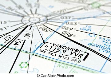 温哥华, 航空, map.