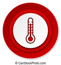 温度, 印, アイコン, 温度計