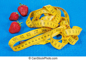 測定, いちご, テープ, karemat