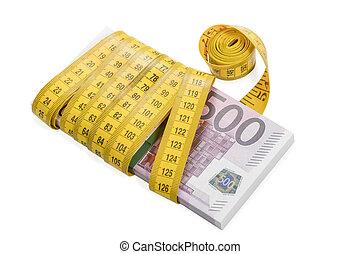 測定, お金, rewound, テープ, 束